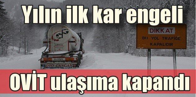 Doğu Karadenizi kar vurdu, Ovit yolları kapalı