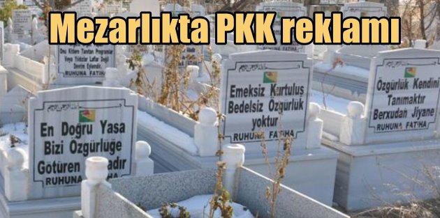 Doğubayazıt mezarlığı PKK'nın propaganda üssü olmuş