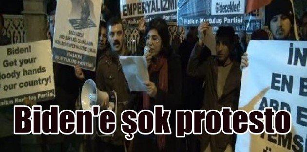 Dolmabahçede Biden Protestosu