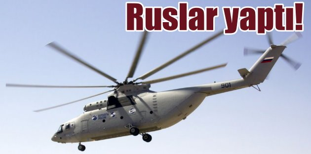 Dünyanın en büyük helikopterini Rusya üretiyor