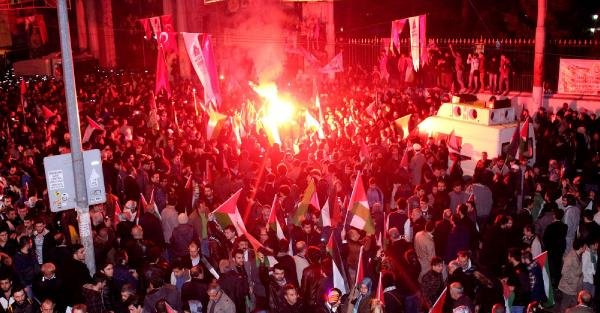 Ek Fotoğraflar// İsrail'in Mescid-i Aksa Müdahalesini Protesto