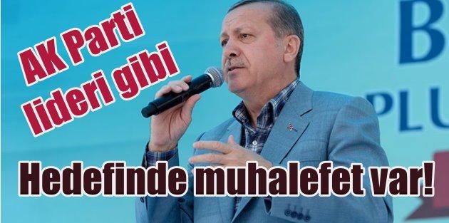 Erdoğan Batmanda AK Parti Lideri gibi konuştu