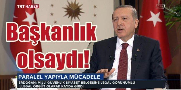 Erdoğan Cumhurbaşkanlığı Sarayının kapılarını TRTye açtı
