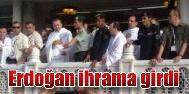 Erdoğan Umrede ihrama girdi