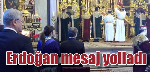 Ermeni Patrikhanesinde Erdoğandan taziye mesajı