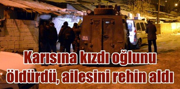 Erzurum'da katil baba dehşeti; Oğlunu öldürdü ve
