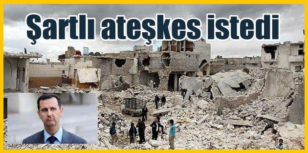 """Esad """"Ateşkese hazırız"""""""