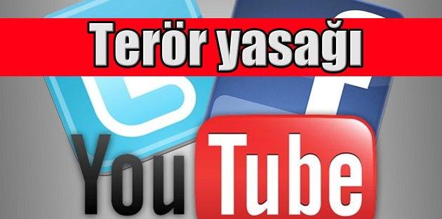Facebook, Twitter ve Youtube yasak