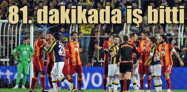 Fenerbahçe Galatasaray'ı 81. dakikada devirdi