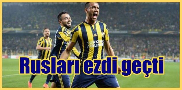 Fenerbahçe Rusları bozguna uğrattı; Fenerbahçe 2 - Lokomotiv Moskova 0