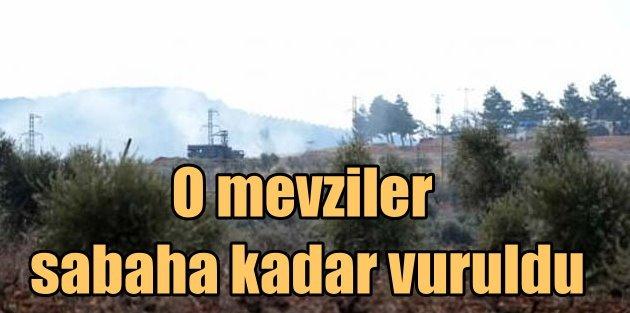 Fırtına obüsler YPG'ye ağır darbe vurdu
