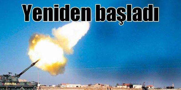 Fırtına Obüsler YPG hedeflerini yeniden vuruyor