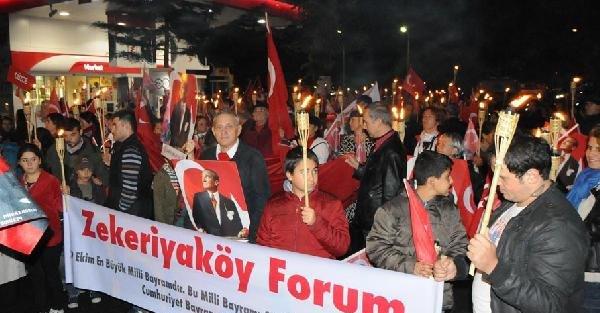 Fotoğraflar - Sarıyer'de 29 Ekim Fener Alayı