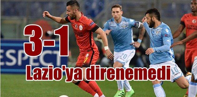 Galatasaray, UEFA Kupası'ndan elendi,  Lazio 3 -  Galatasaray 1