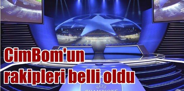 Galatasarayın UEFAdaki rakipleri belli oldu