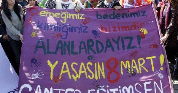 Gaziantep'te kadınlardan 8 Mart yürüyüşü