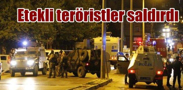 Gaziantepte polise etekli teröristlerden silahlı saldırı