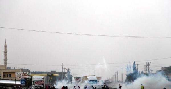 Güneydoğu'da Kobani'ye Destek Yürüyüşleri Yapıldı(2)