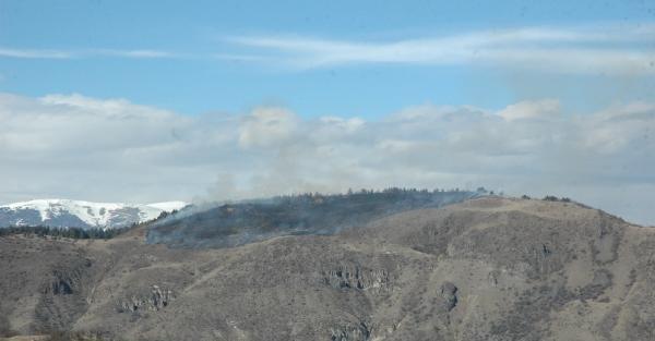 Gürcistan sınırında yangın