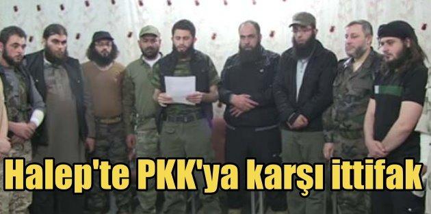 Halepte 13 örgüt YPG'ye karşı birlik ilan etti