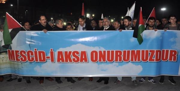 İsrail Polisinin Mescid-i Aksa'ya Girmesine Sivas'tan Tepki