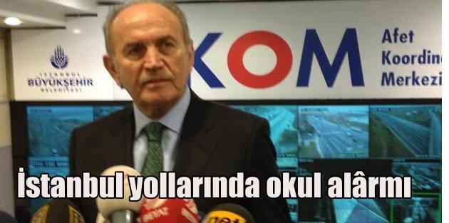 İstanbul yollarında okul alarmı