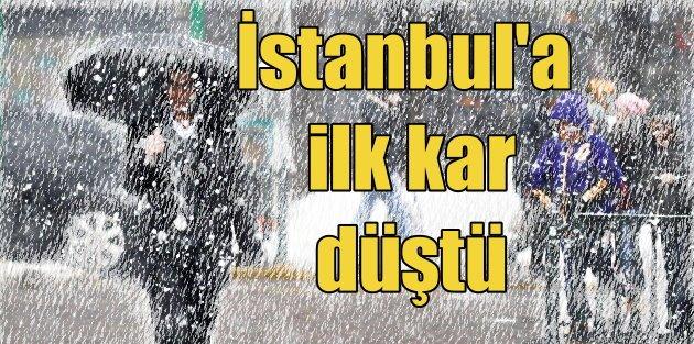 İstanbul'a kar yağışı başladı: Okullar tatil olacak mı ?