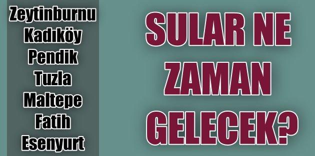 İstanbul'da 9 ilçede su kesintisi var