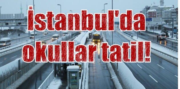 İstanbul'da okullar tatil; Öğrenciler'e 1 günlük müjde.