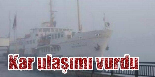 İstanbul'da ulaşım; TEM'de trafik  durdu, kar ulaşımı vurdu