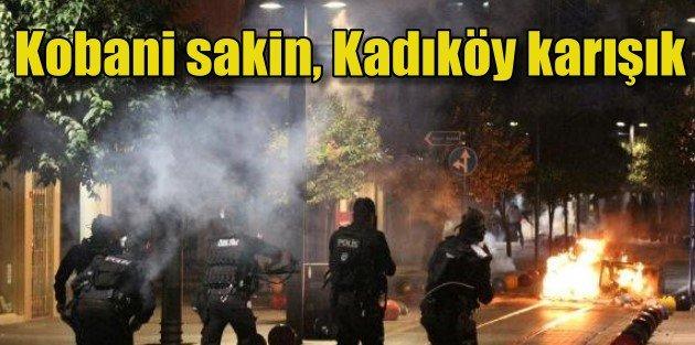 Kadıköydeki Kobani eylemine polis müdahalesi...