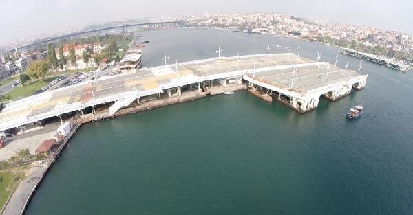 Kaldırılacağı Açıklanan Eski Galata Köprüsü Akibetini Bekliyor