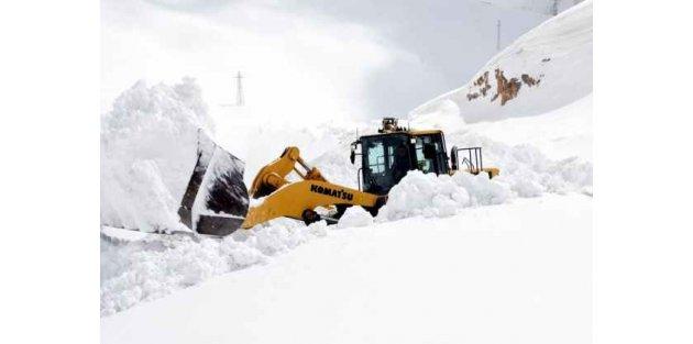 Kar temizleyen kepçe çığ altında kaldı
