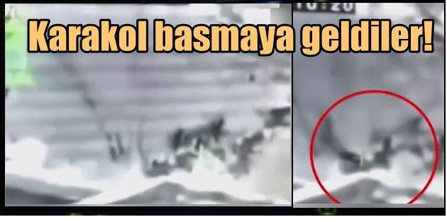 Karakol basmaya gelen PKKlar böyle vuruldu