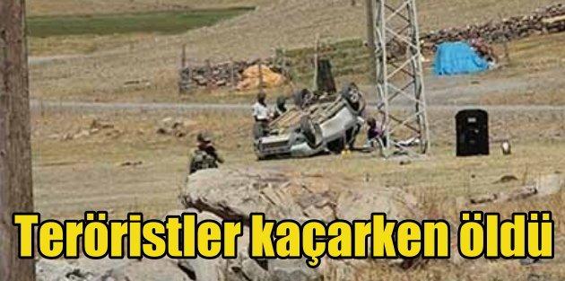 Karakol tarayan, teröristler kaçarken öldü
