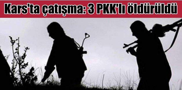 Karsta çatışma, 3 terörist öldürüldü