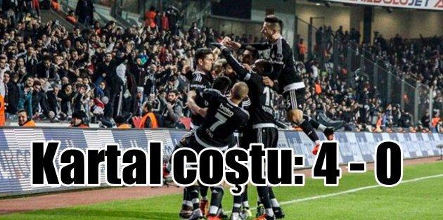 Kartal 2015'i 4 gollü geceyle kapattı