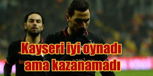 Kayseri, Galatasaray'ı tek golle gönderdi: Yenişemediler