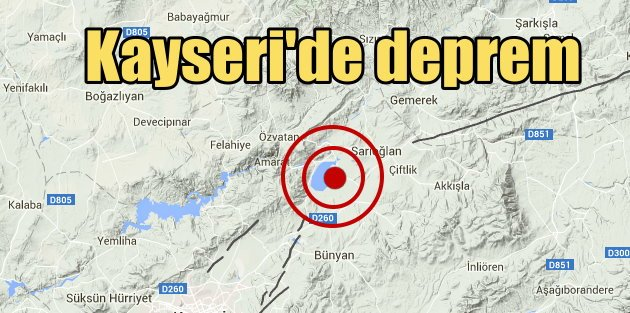 Kayseri Sarıoğlan'da deprem, 4.1