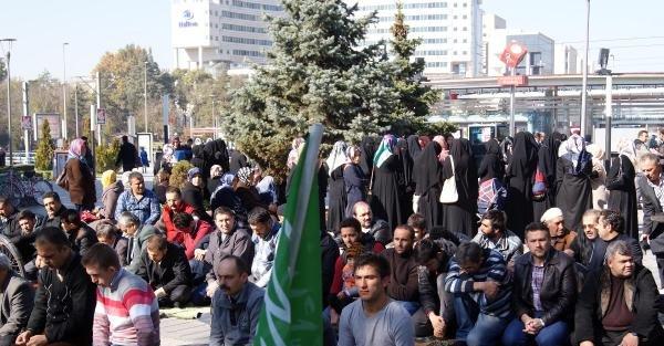 Kayseri'de İsaril'in Tutumu Protesto Edildi