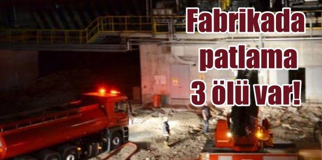 Kazanda Çimento fabrikasında patlama: 3 ölü var