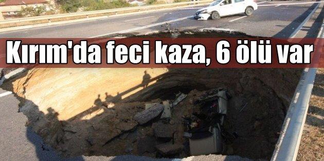 Kırımda feci kaza, 6 Tatar Türkü can verdi