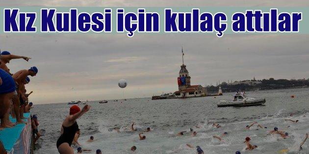 Kız Kulesi yüzme yarışmasında rekor