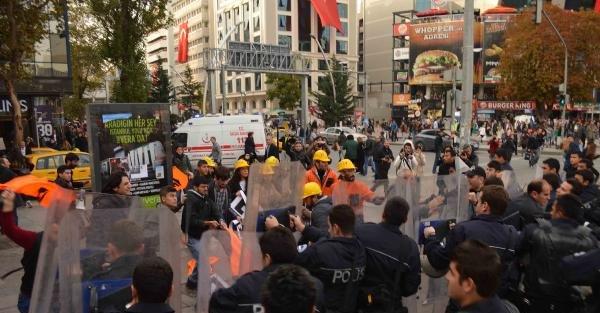 Kızılay' Daki Maden Protestosuna Polis Müdahalesi / Ek Fotoğraflar