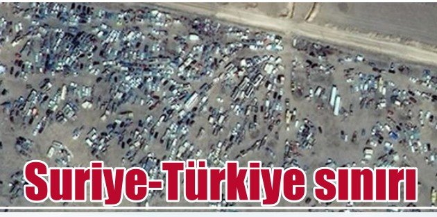 Kobanide son durum, Sınırda dev otopark