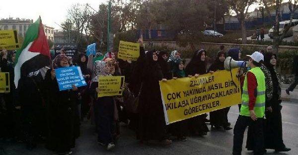 Konya'da Mescid- İ Aksa Protestosu