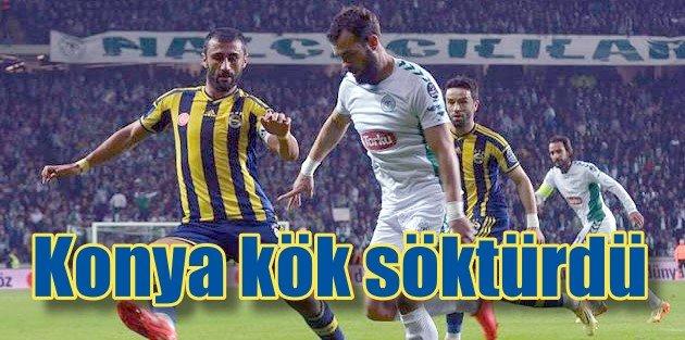 Konyaspor seyircisiyle Feneri devirdi