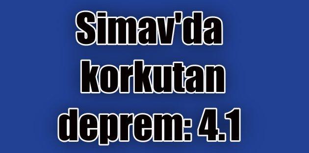 Kütahya Simav'da deprem,...