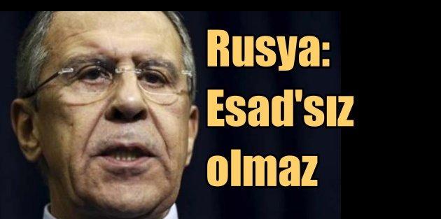 Lavrov BM kararına meydan okudu: Esad'sız olmaz