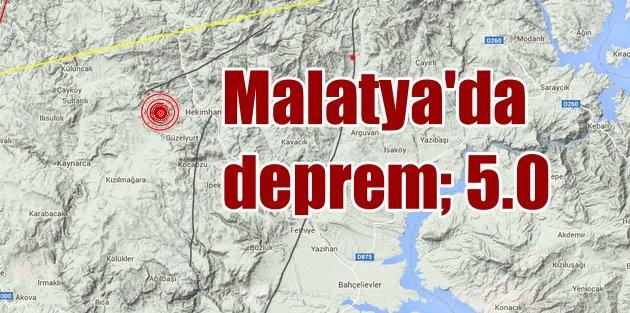 Malatya Hekimhanda korkutan deprem: 5.0